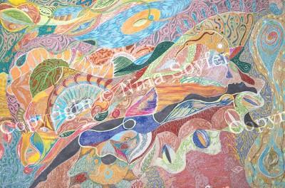 (paper, gel pens, markers, 37 x 25 cm) - 2007